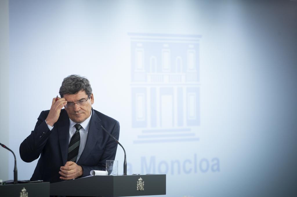 José Luis Escrivá, ministro de Seguridad Social, ayer durante la presentación en Moncloa del Ingreso Mínimo Vital.