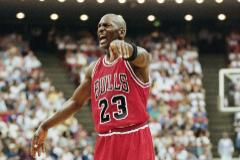 Michael Jordan, durante un partido con los Bulls.