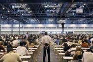 Candidatos realizan la prueba de acceso a la Abogacía.