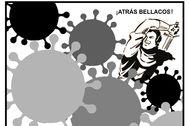 Viñeta 'anticoronavirus' dibujada en exclusiva por Julio Briñol para EL MUNDO