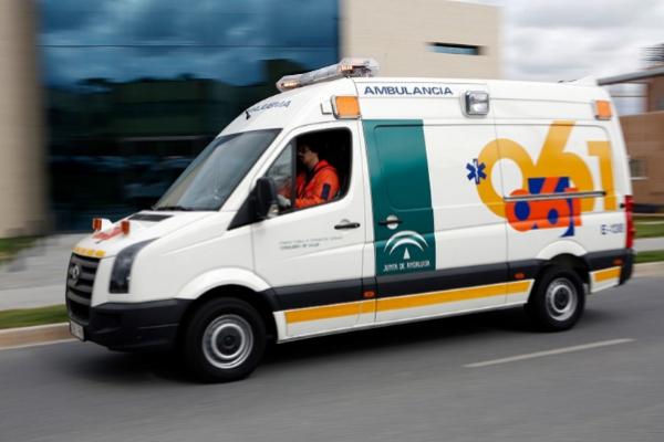 Una ambulancia del EPES.