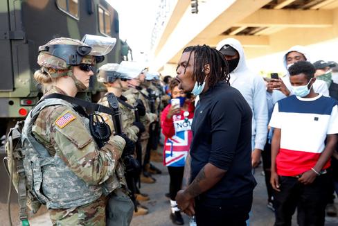 Protest following the death in lt;HIT gt;Minneapolis lt;/HIT gt; police custody of African-American man George Floyd