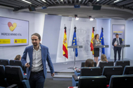 El vicepresidente Iglesias abandona la rueda de prensa ante Escrivá y Montero.
