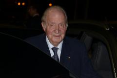 El Rey Juan Carlos, en el funerald e Plácido Arango, el pasado mes de febrero.