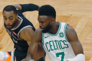 Jayleen Brown, durante un partido con los Celtics.