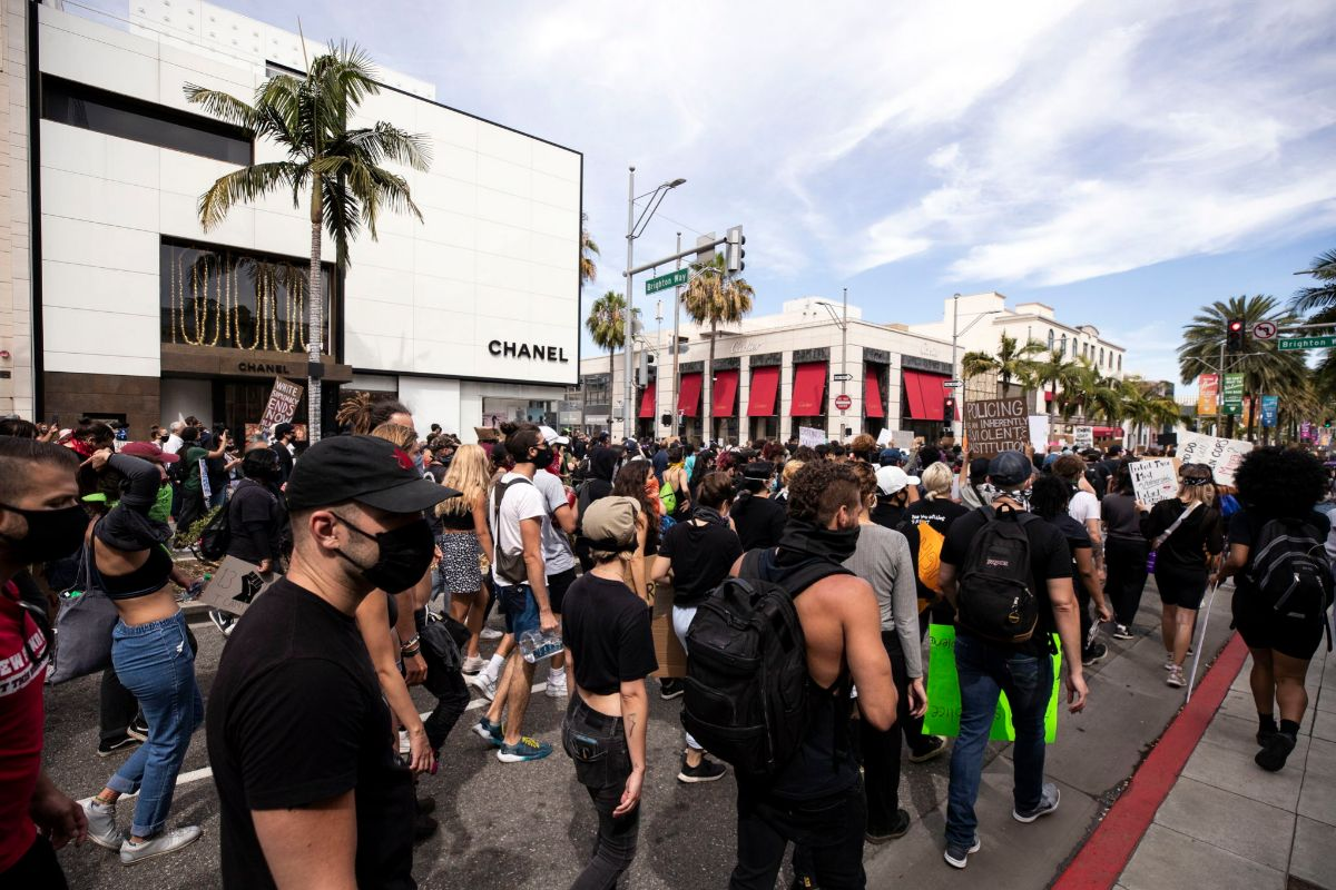 Protestas en Rodeo Drive (Beverly Hills).