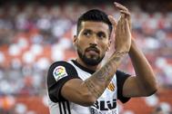 Ezequiel Garay, durante un partido con el Valencia.