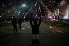 Protestas en Ferguson (Misuri) contra la violencia policial y el racismo.