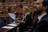 Cayetana Álvarez de Toledo y Pablo Casado, este miércoles en el Congreso.