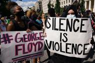 Protestas por la muerte de George Floyd cerca de la Casa Blanca.