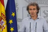 Fernando Simón, durante una rueda de prensa en el Palacio de la Moncloa