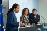 archdc. Madrid, 28 de abril de 2020. Rueda de prensa posterior al Consejo de Ministros para informar de la aprobacion de ingreso minimo vital.