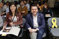 Marta Vilalta y Pere Aragonès, de ERC.