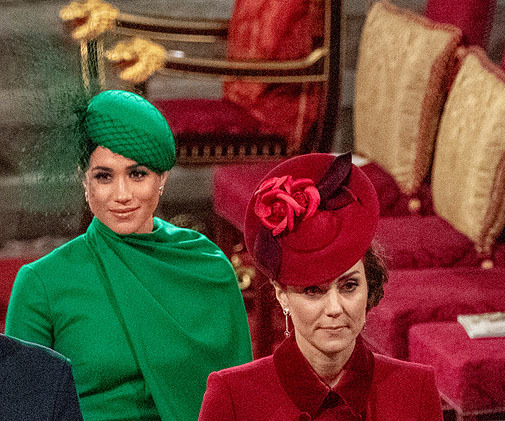 Las mujeres de William y Harry de Inglaterra en su última aparición pública juntas.