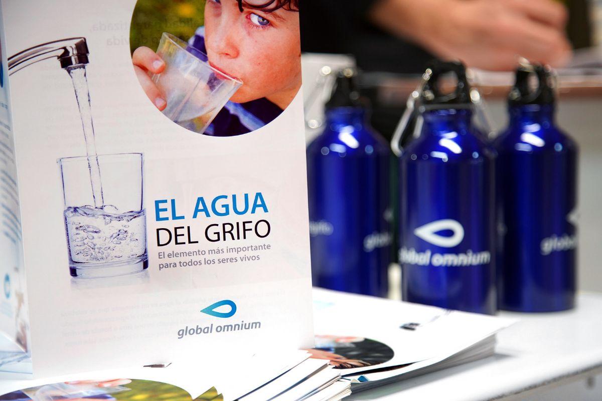 Campaña de Global Omnium sobre el agua del grifo.