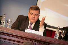 El director general adjunto de Competencia de la Comisión Europea Cecilio Madero en un foro de EL MUNDO.