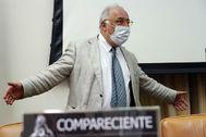 El director general de Tráfico, Pere Navarro, este martes en el Congreso.