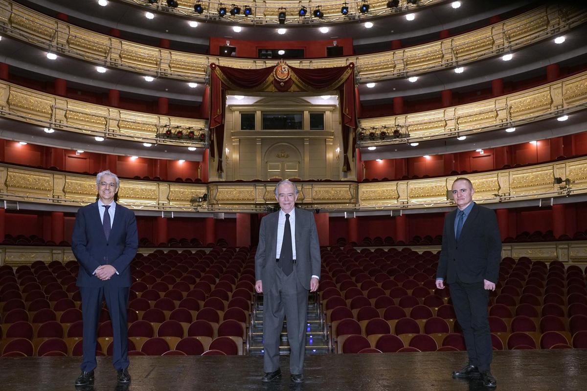 Ignacio García Belenguer, Gregorio Marañón y Joan Matabosch.