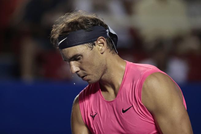 Nadal, en Acapulco, la última competición que jugó en tenista, el pasado febrero.