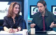 Isabel Díaz Ayuso y Pablo Iglesias en La Tuerka