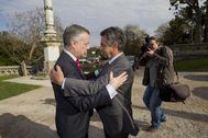 El lehendakari Urkullu y el presidente cántabro Miguel Ángel Revilla en un encuentro mantenido en Comillas.