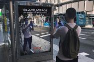 El anuncio de Black Mirror con truco en la Gran Vía de Madrid.