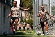 MARCA|Libre Uso lt;HIT gt;SERGIO lt;/HIT gt; lt;HIT gt;RAMOS lt;/HIT gt;, CARVAJAL ENTRENAMIENTO Real Madrid FOTO REAL MADRID