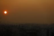 Boina de contaminación sobre Madrid, antes de la crisis sanitaria