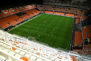 Soccer Football - Champions League - Round of 16 Second Leg - lt;HIT gt;Valencia lt;/HIT gt; v lt;HIT gt;Atalanta lt;/HIT gt; - Mestalla, lt;HIT gt;Valencia lt;/HIT gt;, Spain - March 10, 2020 General view in the empty stadium as the match is played behind closed doors as the number of coronavirus cases grow around the world UEFA Pool/Handout via REUTERS ATTENTION EDITORS - THIS IMAGE HAS BEEN SUPPLIED BY A THIRD PARTY. - RC29HF9Y0DAH