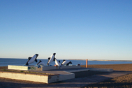 Playa Unión, en la provincia argentina de Chubut, donde presuntamente ocurrió la violación.