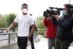 Diego Costa, llegando esta mañana a la Audiencia de Madrid.