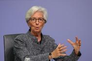 Christine Lagarde, presidenta del BCE, en una imagen de archivo.