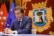 El alcalde, José Luis Martínez-Almeida, en rueda de prensa
