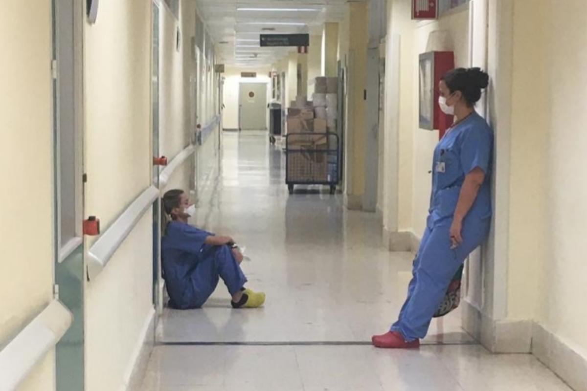 Los pasillos del hospital, en los momentos más duros de la pandemia.