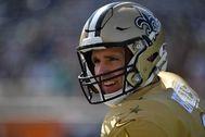 Drew Brees, con los Saints el pasado mes de enero.