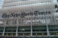Fachada del edificio del 'New York Times'.