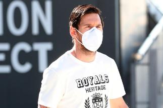 Leo Messi, en la Ciutat Esportiva Joan Gamper.