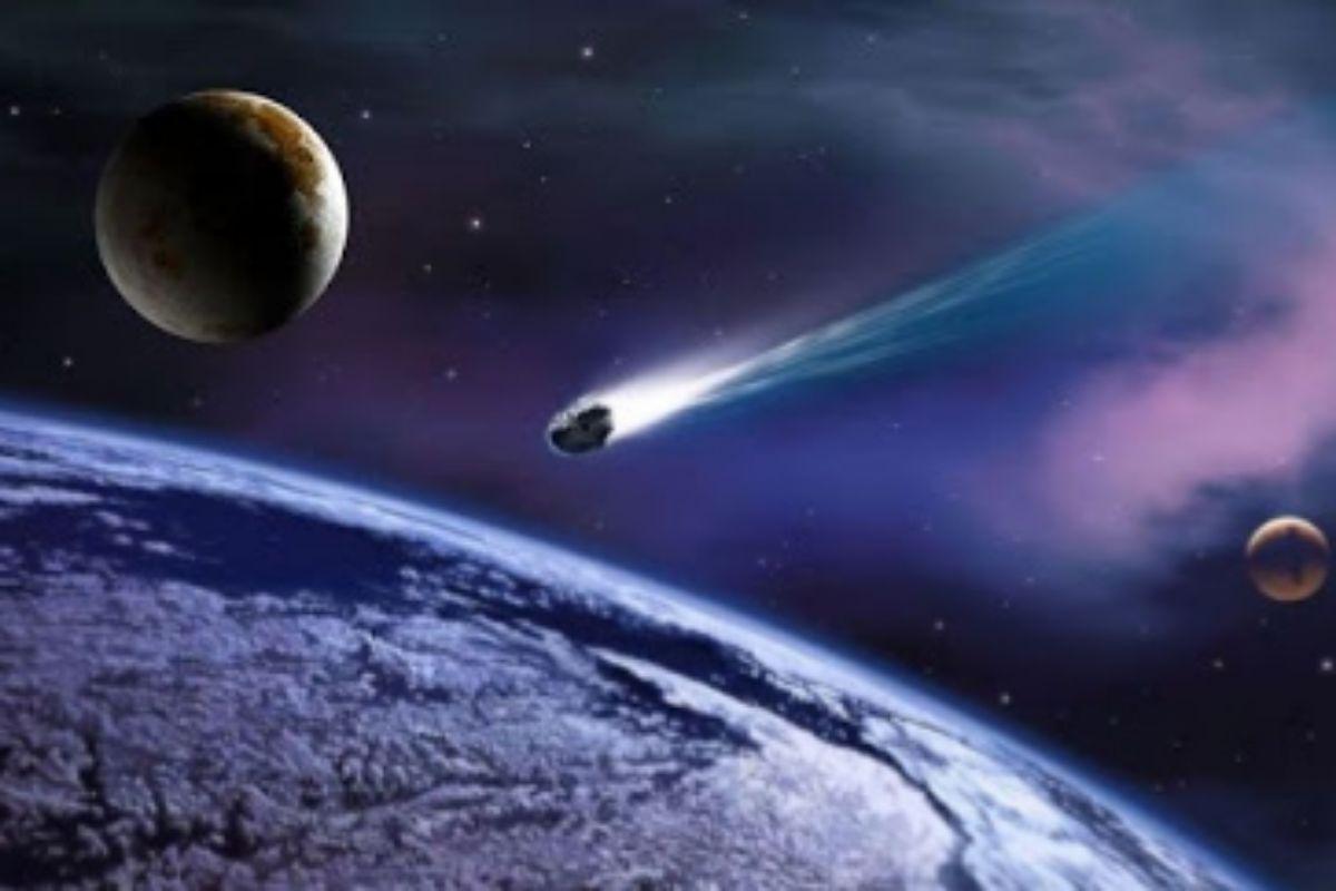 Recreación artística de un meteoroide.