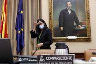 Cinta Pascual, presidenta de Ceaps, durante su comparecencia en el Congreso.