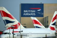 Aviones de British Airways, en el aeropuerto de Heathrow.