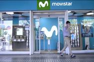 Una tienda Movistar de Telefónica en Madrid.