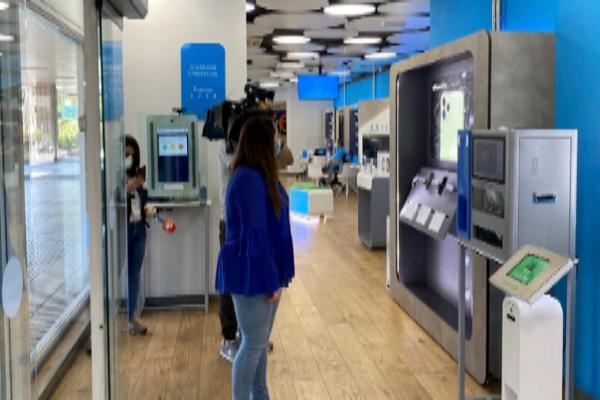 Interior de una tienda, con tecnología frente al coronavirus.