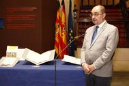 El presidente aragonés, Javier Lambán, este viernes, en la sede del Gobierno de Aragón.