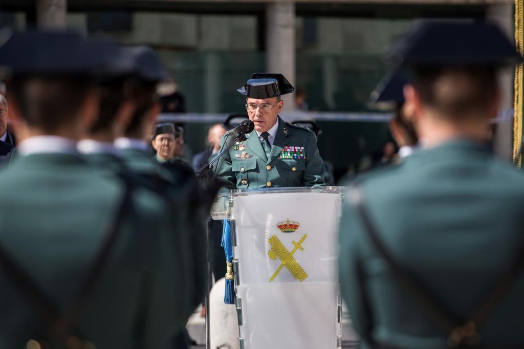 El coronel Diego Pérez de los Cobos, en la toma de posesión como jefe de la Comandancia de Madrid.