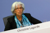 Frankfurt Am Main (Germany).- A handout photo made available by European Central Bank shows European Central Bank (ECB) President Christine lt;HIT gt;Lagarde lt;/HIT gt; speaking during a press conference following the meeting of the Governing Council of the European Central Bank in Frankfurt am Main, Germany, 04 June 2020. The ECB announced it's monetary policy decision and said the 'pandemic emergency purchase programme (PEPP) will be increased by 600 billion euro to a total of 1,350 billion euro, as a part of stimulus efforts to strenghten the eurozone economy'. (Alemania) EPA/ HANDOUT EDITORIAL USE ONLY/NO SALES