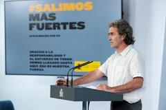 El director del Centro de Coordinación de Alertas y Emergencias Sanitarias, Fernando Simón, en La Moncloa.