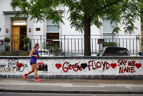 Protest against the death of George Floyd, in London