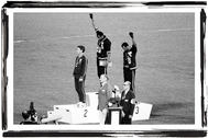 Podio de los 200 metros en los Juegos de México, en 1968.