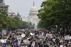 Manifestación en Washington contra la brutalidad policial.