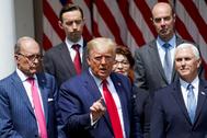 El presidente estadounidense, Donald Trump, en la Casa Blanca.